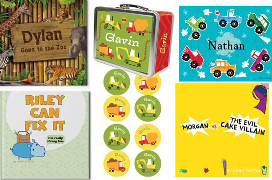 Personalized: Books, Stickers, Puzzles, Lunch Box
