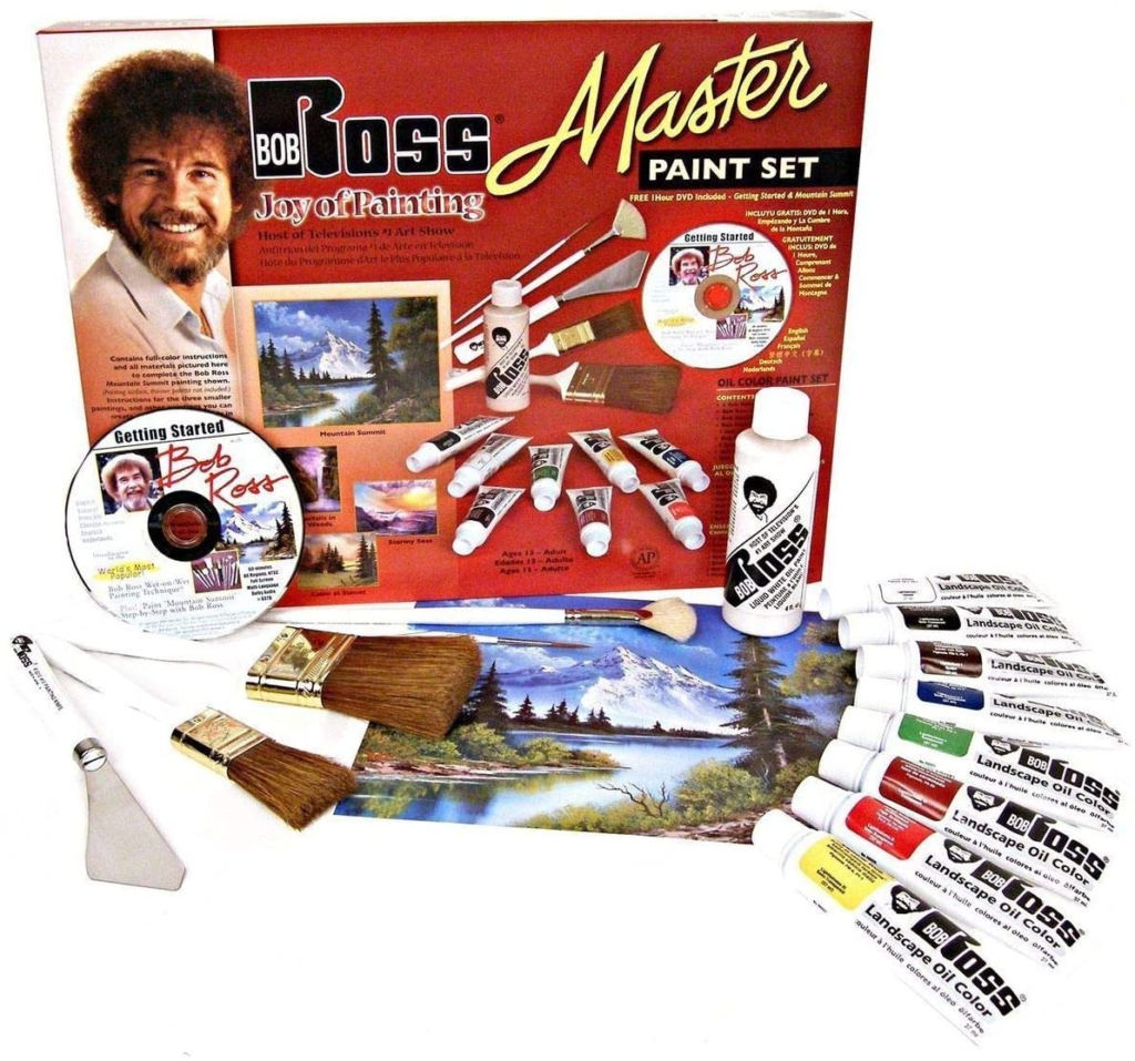 Fathers day gift idea bob ross painting set