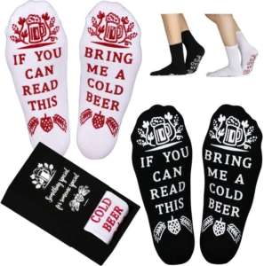 bring me a beer socks - gift idea for dad