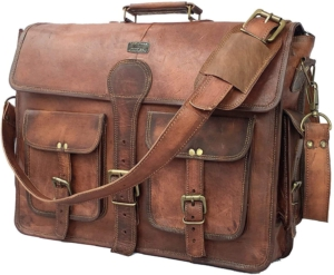 leather messenger bag gifts for dad for fathers day