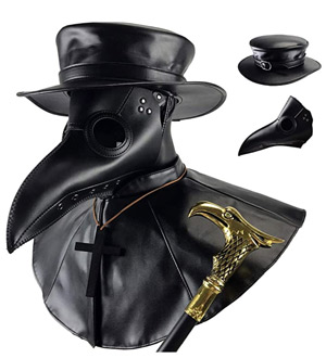 Mask Gift Idea for menAbsolute Vibe Plague Doctor Bird Mask and Hat Combo Set Halloween Costume Steampunk Cosplay Props