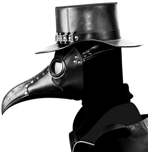 couples halloween costumes scary plague bird mask