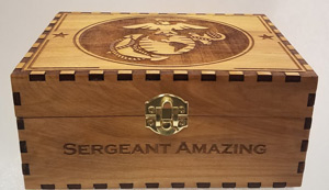 military boyfriend gift ideas wood box