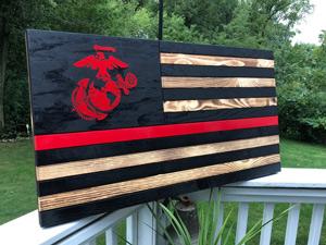 gift ideas for military boyfriend wood flag