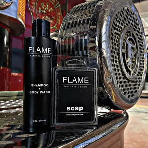 Unique Gifts for Firefighters - flame decon soap made for firefighters