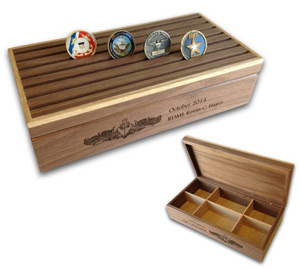 military challenge coin box military boyfriend gift ideas